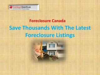Find Home Below Market Value | Foreclosures Canada