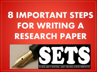 Steps for writing an effective research paper
