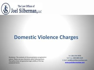 Domestic Violence Charges