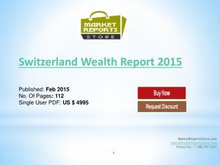 Wealth Report 2015 in Switzerland