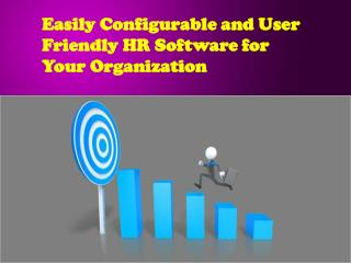 Easily Configurable and User Friendly HR Software
