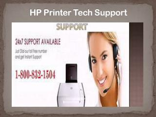 HP Printer Tech Support 1-800-832-1504