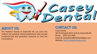 Dentist Services for Childrens in Greenville Nc