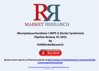 Mucopolysaccharidosis I Pipeline Review, H1 2015