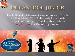 Indian idol junior 2015 | SonyLiv.com