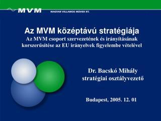 Az MVM k z pt v  strat gi ja  Az MVM csoport szervezet nek  s ir ny t s nak korszerus t se az EU ir nyelvek figyelembe v