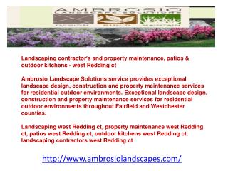 Landscaping contractor�s and property maintenance, patios &