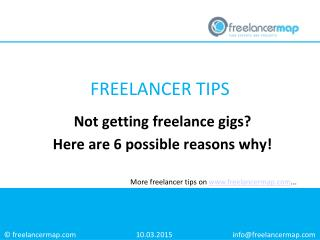 Not getting freelance gigs? Here are 6 possible reasons why!