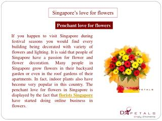 Singapore�s love for flowers