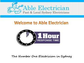 Electrician in Sydney