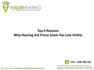 Top 4 Reasons Why Hearing Aid Prices Seem Too Low Online