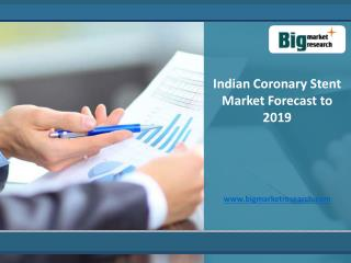 Indian Coronary Stent Market Size, Forecast to 2019