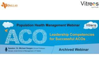 Archived Webinar: Leadership Competencies for Successful ACO