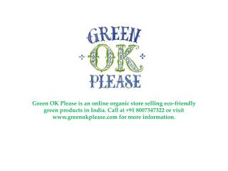 Green Ok Please Baby Care