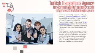 Global Turkish Language Translation Solutions