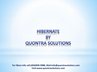 Hibernate Overview by Quontra Solutions