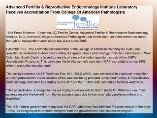 Advanced Fertility & Reproductive Endocrinology Institute
