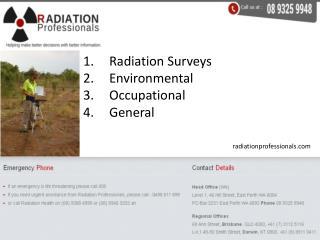 Radiation Surveys - Environmental, Occupational, General