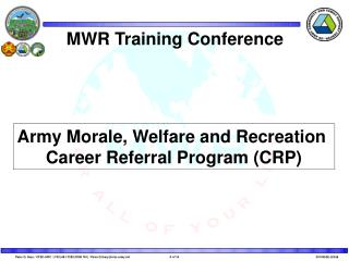 MWR Training Conference