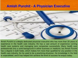 Amish Purohit
