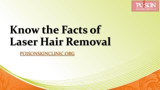 Know the Facts of Laser Hair Removal