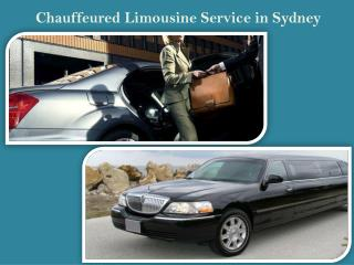 Chauffeured Limousine Service in Sydney