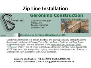 zip Line Tour Inspection