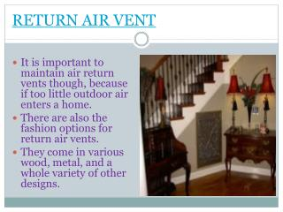 Return air vent