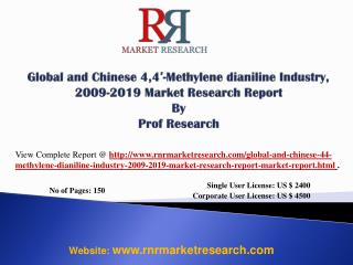 4,4′-Methylene dianiline Industry World and China 2019