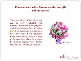 Few occasions when flowers are the best gift and the reasons