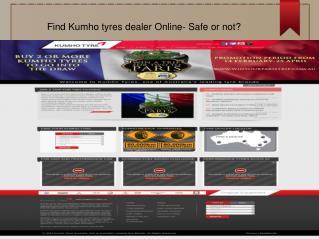 Find Kumho tyres dealer Online