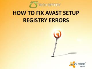 How To Fix Avast Setup Registry Errors