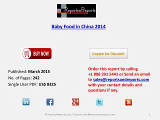 China Baby Food 2014
