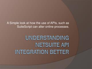 Understanding NetSuite API Integration Better