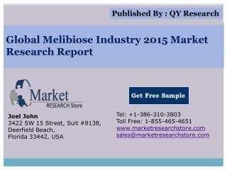 Global Melibiose Industry 2015 Market Analysis Survey Resear