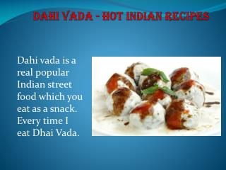 Dahi Vada - Hot Indian Recipes
