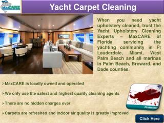 Yacht Upholstery Cleaning- Ft Lauderdale