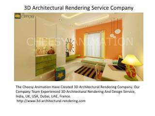 3D Architectural Rendering Service Company