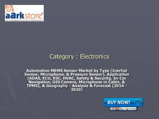 Automotive MEMS Sensor Market