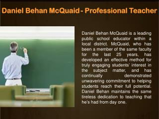 DanielBehanMcQuaid - Professional Teacher