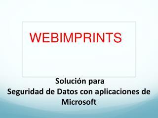 Solucion para Seguridad de Datos con aplicaciones de Microso