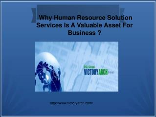 Why Human Resource Solution  Services Is A Valuable Asset Fo