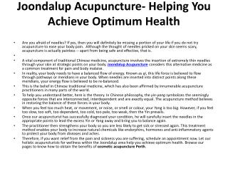 Joondalup Acupuncture