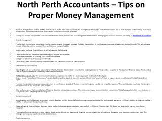 North Perth Accountants