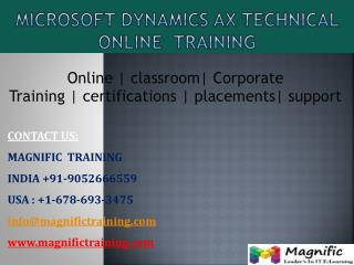 ms dynamics ax technical online training in canada