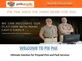 Pik Pak - Warehousing and Distribution