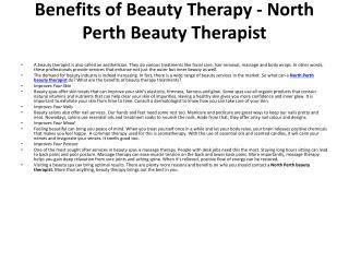 North Perth Beauty Therapist