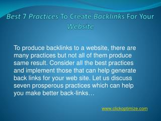 Best 7 Practices To Make Backlinks For your website