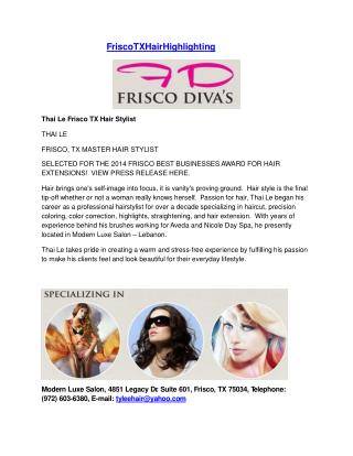 Best Salon Frisco Texas - Frisco Texas Hair Cut