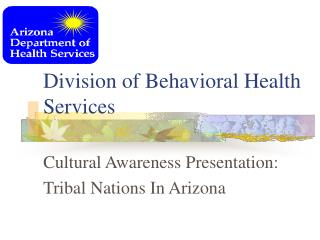 Division of Behavioral Health Services
